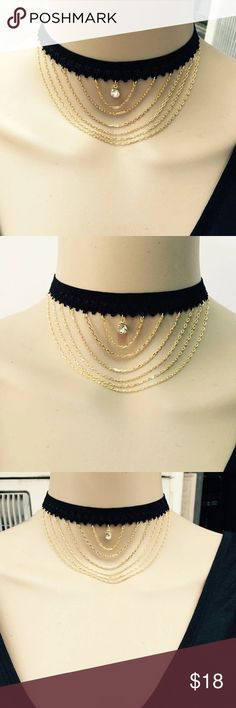 Length 5mm 78  Choker Width Choker Necklace Genuine Leather Wrap Choker with Antique Gold Accents 10mm Leather Width