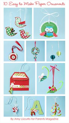 My Owl Barn: Printables: 10 Paper Ornaments