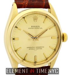 Rolex Oyster Perpetual Vintage 34mm No-Date 14k Yellow Gold Circa 1954 1003