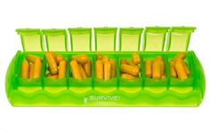 Amazon.com: SURVIVE Vitamins 7 Day Pill Organizer Plastic Pill Box Translucent Lime Color 1 Piece Of This Pill Case: Health & Personal Care Weekly Pill organizer is useful tool for everyone that uses pills or vitamins every day.