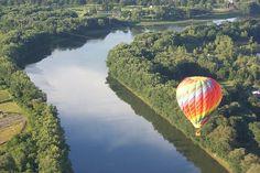 viewing Binghamton from a hot air balloon..