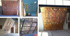 Examples of system climbing walls