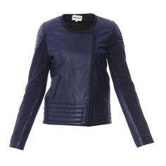 Veste en cuir indigo AMERICAN RETRO | http://www.brandalley.fr/FSRayon/Id-13581-Produit-0-Page-3-Rayon-649062