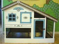 indoor bunny hutch - @Michele Morales Welch something like this but taller!!! Bunny condo!