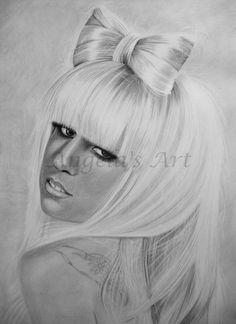 LADY GAGA 5 by *AngelaHillPortraits on deviantART