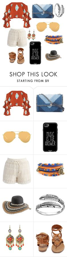 """""""Boho hippie"""" by natsof7 ❤ liked on Polyvore featuring Mochi, STELLA McCARTNEY, Linda Farrow, Casetify, Chicwish, Rip Curl, Primrose, WithChic and Breckelle's"""