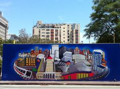 Andrew Miripolsky Mural at Pershing Square