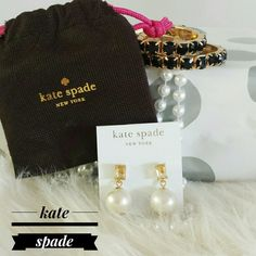 "~HP 10/11/16~{Kate Spade N.W.T} Faux Pearl Earings HOST PICK- Office Essentials 10/11/16 Selected By @rmg4115  N.W.T ""Kate Spade"" Faux Pearl Earings. BRAND NEW WITH TAG & JEWELRY DUST BAG. BOX NOT INCLUDED. { Yellow Faux Stone Along With Large Faux Pearl. Gold Hardwear. Post Backing. } >MEASUREMENTS    Please Ask Questions Before Purchasing  ALL SALES ARE FINAL  NO TRADES NO PAYPAL  NO HOLDS NO LOW BALL OFFERS kate spade Jewelry Earrings"