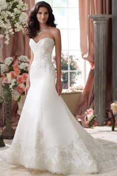david tutera style  2285 cream wedding dress | You are here: Home >> Dresses >> David Tutera for Mon Cheri 114279