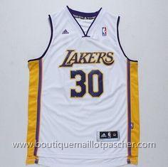 maillot nba pas cher Los Angeles Lakers Randle #30 Blanc nouveaux tissu 22,99€
