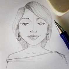 WEBSTA @ gabigabisha - Rascunho de moça 🙂#doodle #sketching #ilustracao