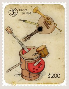 Stamp Collecting, Postage Stamps, Musical Instruments, Musicals, Vintage, Seals, World, Door Bells, Music Instruments