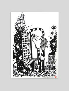 Pete Fowler - Synth MessA3 hand pulled screenprint. £30 http://www.beachlondon.co.uk/#!product/prd2/1048466871/pete-fowler---synth-mess