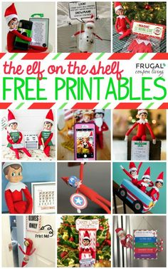 Free Elf on the Shelf Printables and hundreds of Elf on the Shelf Ideas to inspire carefree nights and easy shenanigans for your Christmas Traditions. Free Elf on the Shelf printables and hundreds of Elf on the Shelf I Elf On Shelf Printables, Free Christmas Printables, Christmas Activities, Christmas Traditions, Free Printables, Christmas Gift Tags, Christmas Elf, Christmas Crafts, Funny Christmas