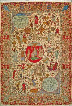 """Sarough Persian Rug, Buy Handmade Sarough Persian Rug 8' 0"""" x 11' 6"""", Authentic Persian Rug"""