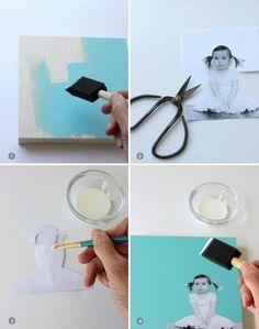 DIY Modern Photo Wall Art