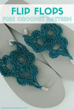 Summer is coming! So let's crochet some flip flops. It's so easy with this free crochet pattern :-)