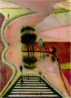 Delta, 1998 by Wayne Thiebaud.