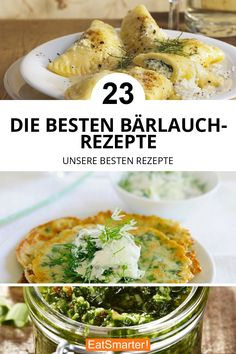 The best wild garlic recipes - The best wild garlic recipes eatsmarter. Garlic Recipes, Soup Recipes, Health Desserts, Easy Desserts, Wild Garlic, Ravioli, Spring Recipes, Fitness Diet, Guacamole