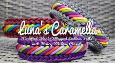 (sw306)Luna's Caramella Diy Dog Collar, Collar And Leash, Dog Collars, Paracord Braids, Paracord Bracelets, Dog Crafts, Diy Arts And Crafts, Paracord Tutorial, Paracord Projects