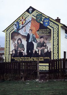 Murals in Northern Ireland have become symbols of Northern Ireland, depicting the region's past and present political and religious divisions.