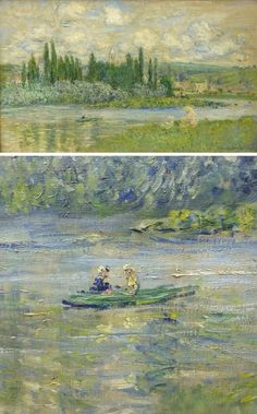 View of Vetheuil by Claude Monet with Detail View | Lone Quixote | #ClaudeMonet…