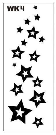 Трафарет млечный путь, звезды 7*18 см