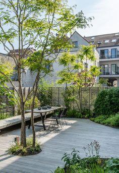 'De doodsbeenderenboom is een kunstwerk' - Hortipoint Back Gardens, Small Gardens, Outdoor Gardens, Roof Gardens, Landscape Architecture, Landscape Design, Dream Garden, Home And Garden, Rooftop Garden