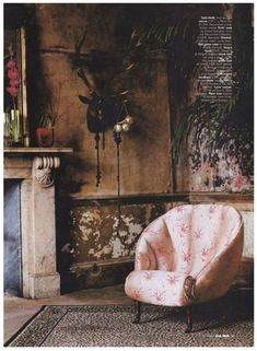 House Removals, Ivy House, Witch House, Plaster Walls, Rustic Walls, Old World Charm, Eclectic Decor, Elle Decor, Upholstered Chairs