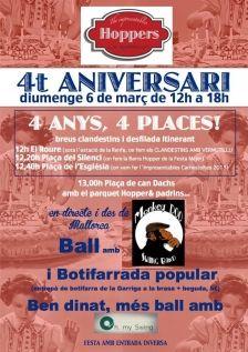 Cartell 4rt aniversari hoppers #lagarriga #swing #ball #vallesoriental #caretll #disseny