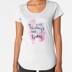 """""""Good Things Take Time Quote"""" by Andy Mako   Redbubble Doodle Quotes, Hand Lettering Art, Good Things Take Time, Time Quotes, Chiffon Tops, Classic T Shirts, T Shirts For Women, Fashion, Moda"""
