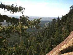 Climbing First Flatiron, View of Denver ©2011 Middle Aged Ski Bum