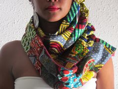 African Mix Print Winter Scarf by ifenkili on Etsy, $30.00