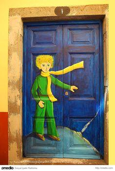 The Little Prince painted door.