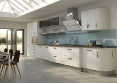 High Gloss White Kitchen Functional Cabinet Designs