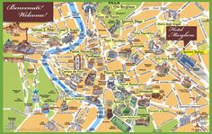 Rome sightseeing map