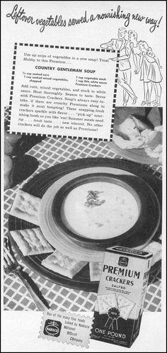 NABISCO PREMIUM CRACKERS WOMAN'S DAY 06/01/1946 p. 53