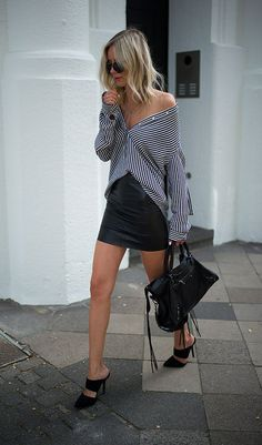 Styling tip: camisa aberta ombro a ombro