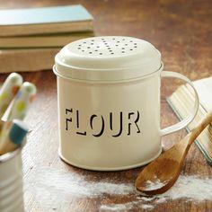 Cream Ware Flour Shaker
