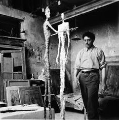 """""""In a burning building, I would save a cat before a Rembrandt."""" -Alberto Giacometti, Swiss sculptor and painter Alberto Giacometti, Giovanni Giacometti, Lucian Freud, Norman Rockwell, Artist Life, Artist At Work, Antoine Bourdelle, Gagosian Gallery, Tate Gallery"""