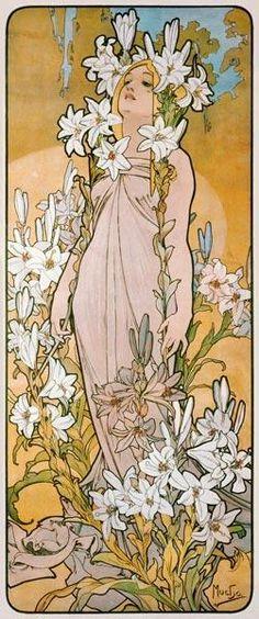 Alphonse Mucha - The lily