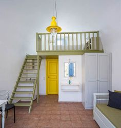 Marillia Village - Decostore by Zorzos Co Santorini, Bunk Beds, Sofa, Interior, Greece Travel, Furniture, Waiting, Traveling, Wanderlust