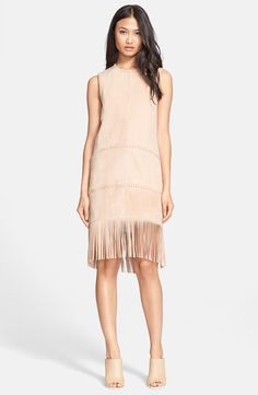 Rachel Zoe 'Celia' Suede Shift Dress