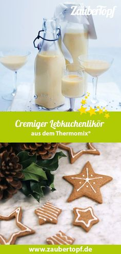 Creamy gingerbread liqueur- Cremiger Lebkuchenlikör Gingerbread liqueur from the Thermomix®️ is a delicious gift idea from the Packed in beautiful strap bottles and wrapped in a bow, everyone will love this Christmassy souvenir. Drink Tumblr, Tumblr Food, Drinks Alcoholicas, Spirulina Recipes, Easy Lemonade Recipe, Making Iced Tea, Refreshing Summer Drinks, Liqueur, Christmas Drinks