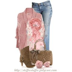 Cozy In Pink, created by steffiestaffie on Polyvore