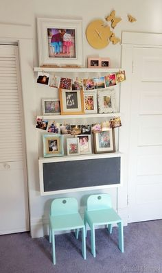 DIY fold-down children's desk with storage inside, and chalkboard on outside... FREE PLANS!  (Reality Daydream}