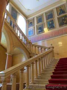 Grand staircase in the Institute for the Blinds of Milan (Italy). Visit web site for more info and pictures!