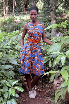 ce0d9c37fb30 Njema Helena Debut Collection- Anne Dress  africa  kenya  kitenge