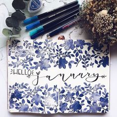 I cant believe how good all the January cover pages are this one is by @lacqueredworld is so elegant and pretty #notebooktherapy