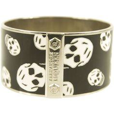 Pre-Owned Alexander Mcqueen Bracelet Black & White Skull Wide ($159) ❤ liked on Polyvore featuring jewelry, bracelets, black, colorful jewelry, alexander mcqueen, colorful bangles, black white jewelry and preowned jewelry